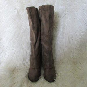Fergalicious tan midhill boots